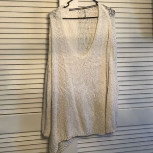 White large weave sweater